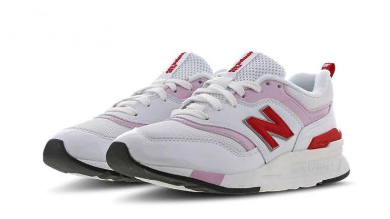 New Balance W997 White Pink front thumbnail image