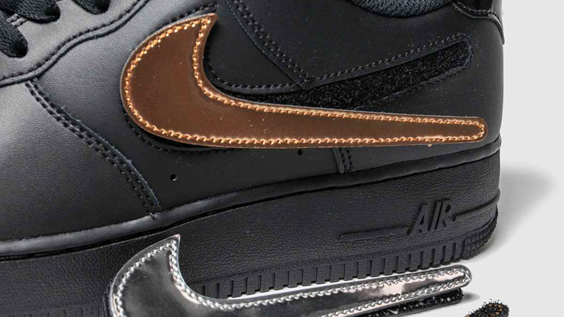 Nike Air Force 1 07 LV8 Black Gold side