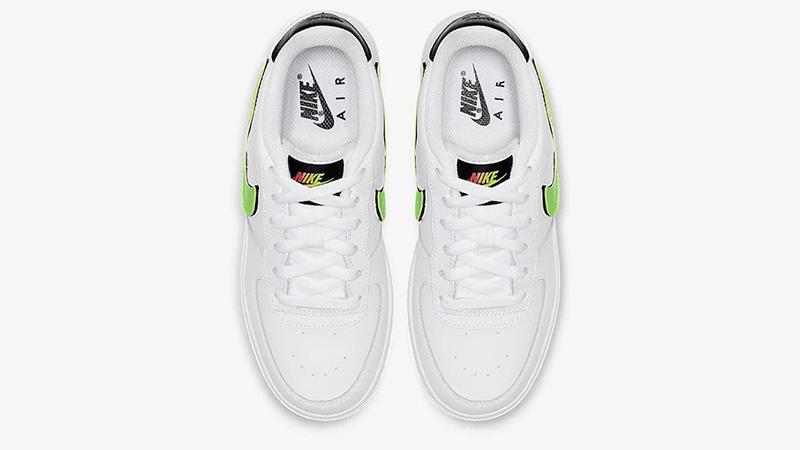 Nike Air Force 1 LV8 3 GS Velcro Swoosh White Green | AR7446 100