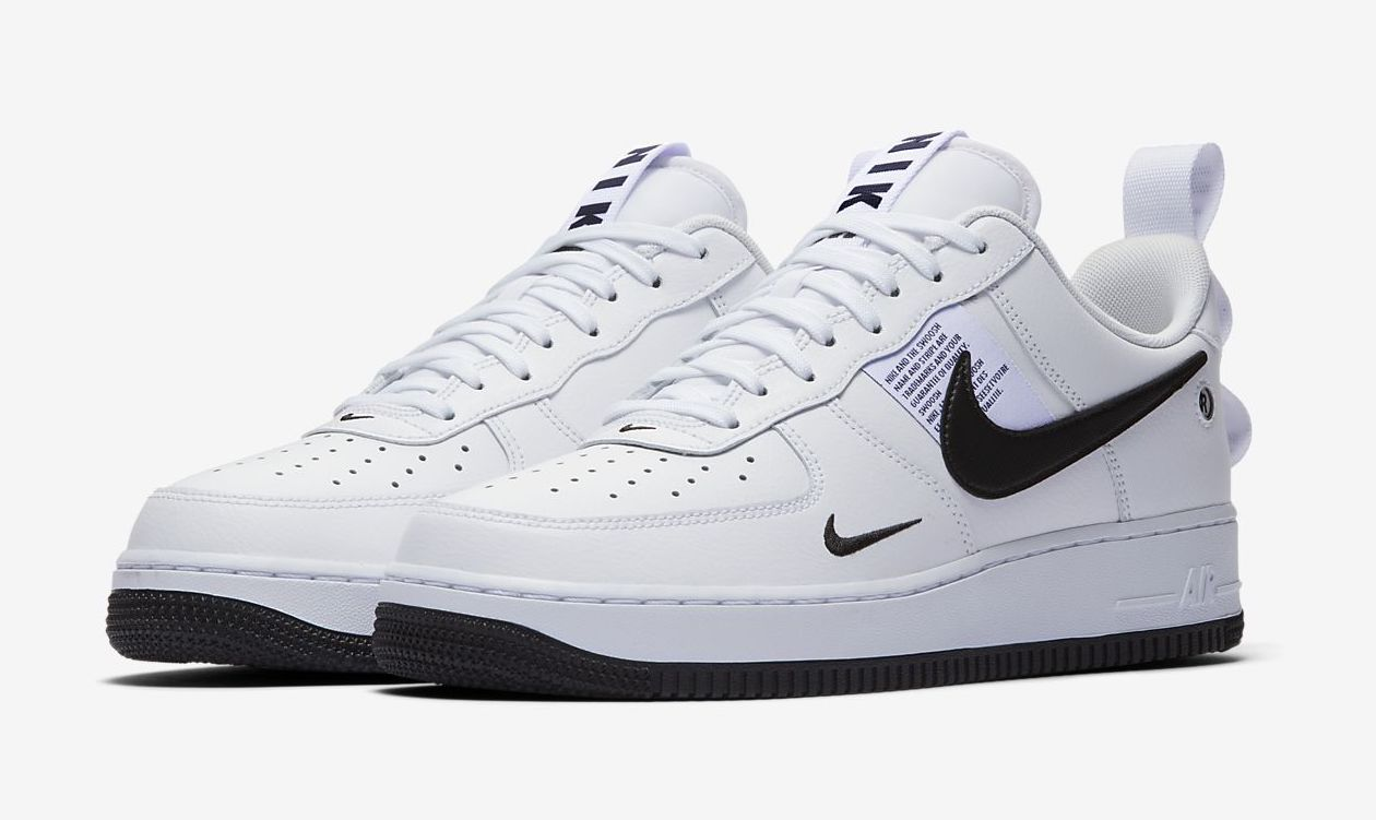 The Nike Air Force 1 Utility Returns In White And Black Style