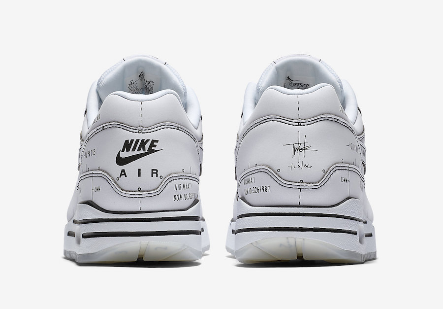Nike Air Max. Schematic White Tinker