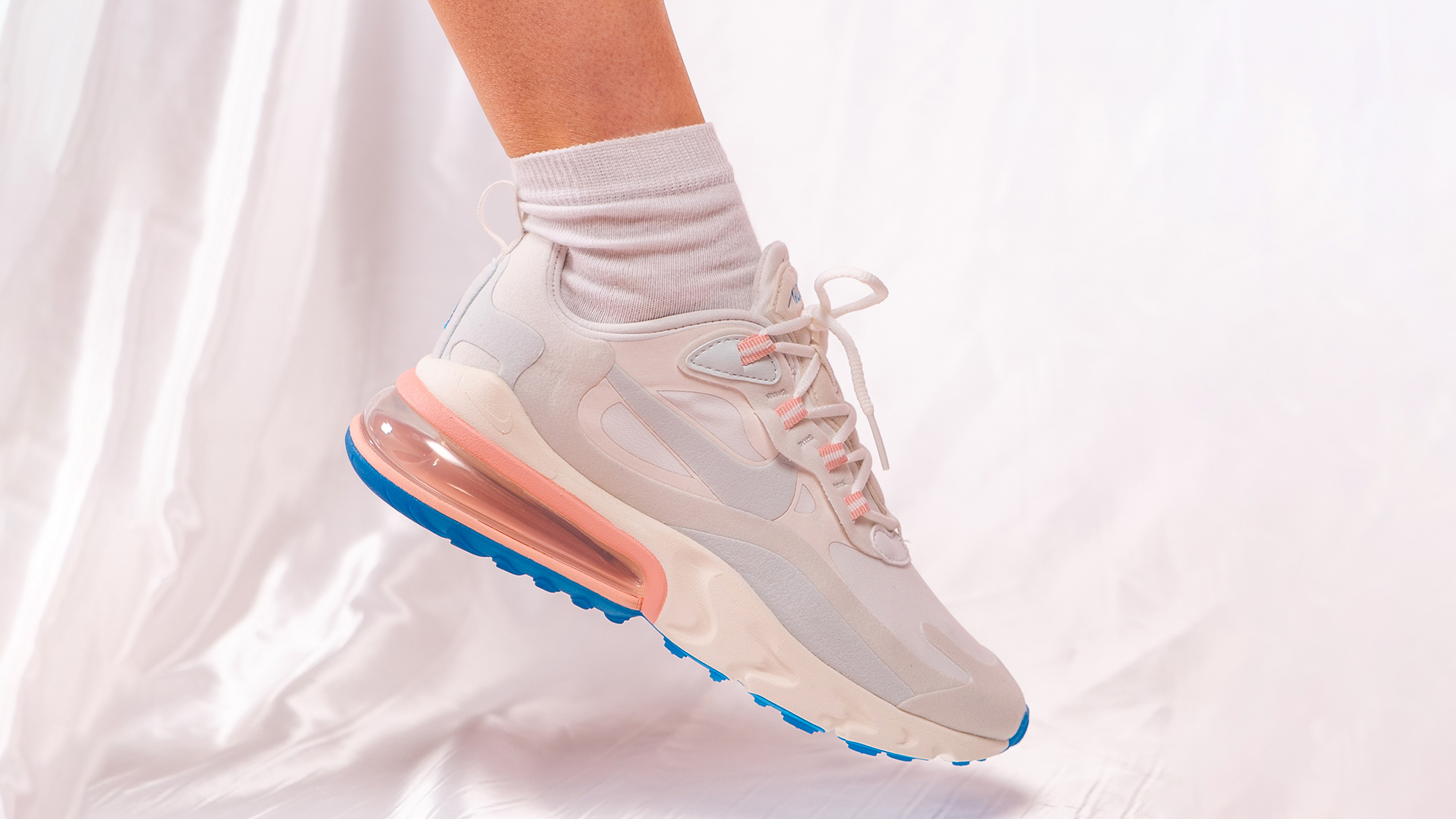 new style 7d940 d387b An On Foot Look At The Nike Air Max 270 React 'Coral ...