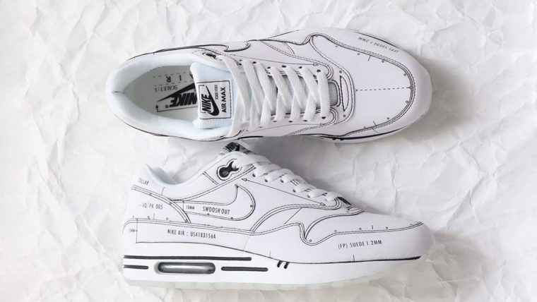 Nike Air Max. Schematic White. Tinker..