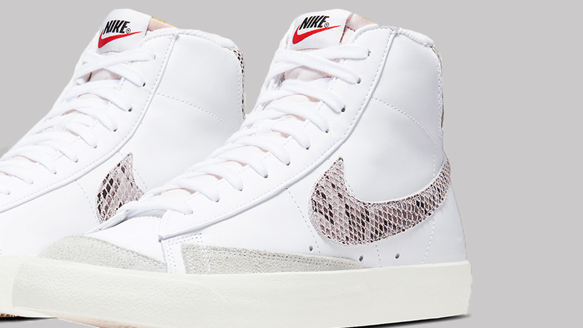 5ac9fc7eea1 The Nike Blazer Mid Gets Adorned In Snakeskin | Upcoming Sneaker ...