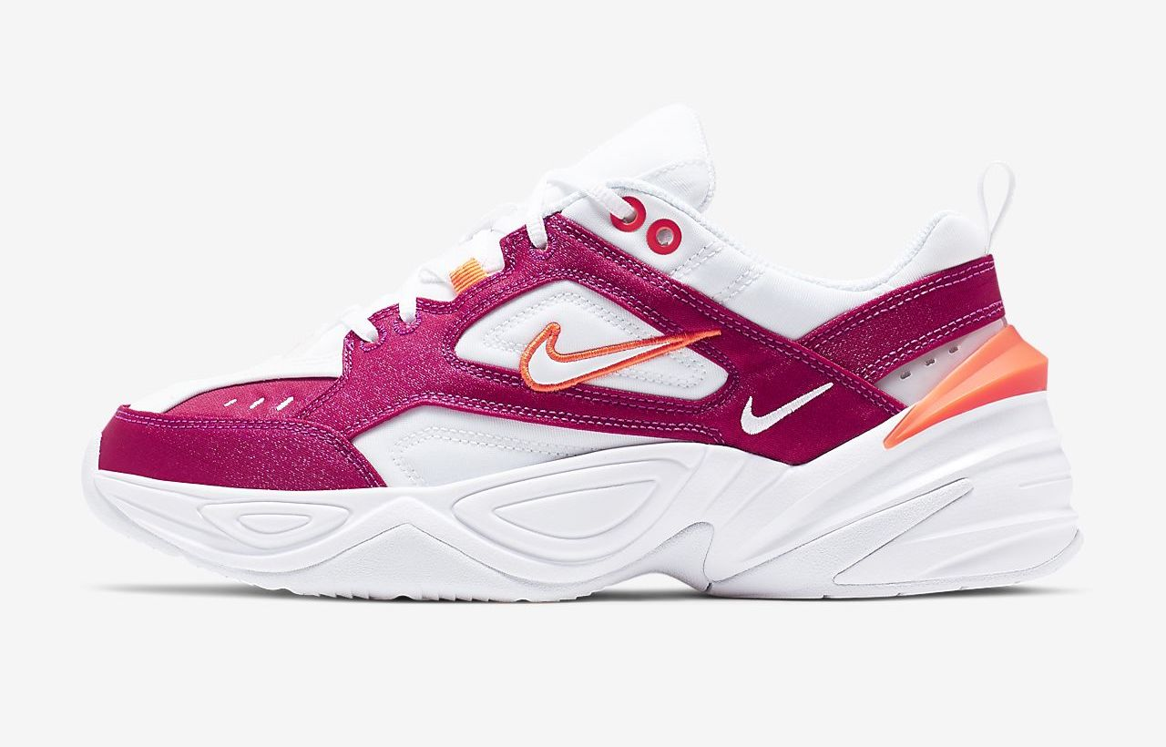 Nike M2K Tekno White Hyper Crimson