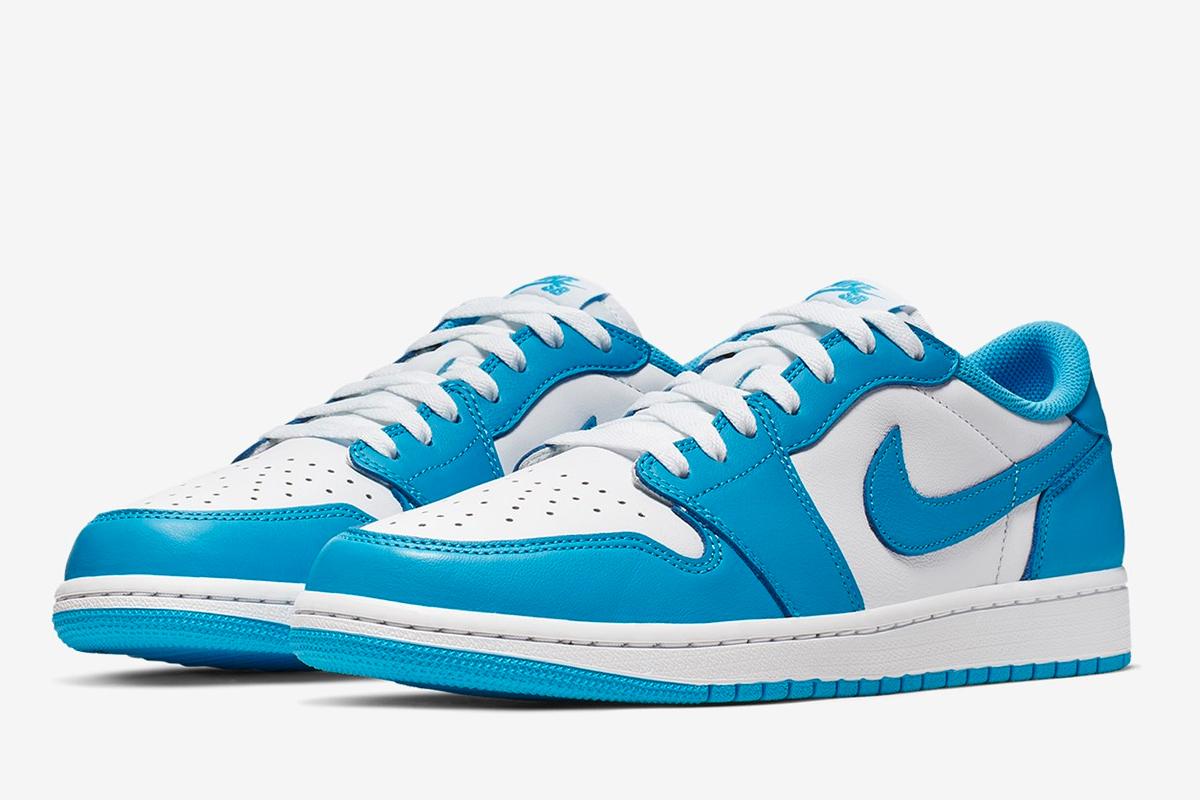 low priced 20d73 a105f Nike SB Air Jordan 1 Low UNC Powder Blue | CJ7891-401