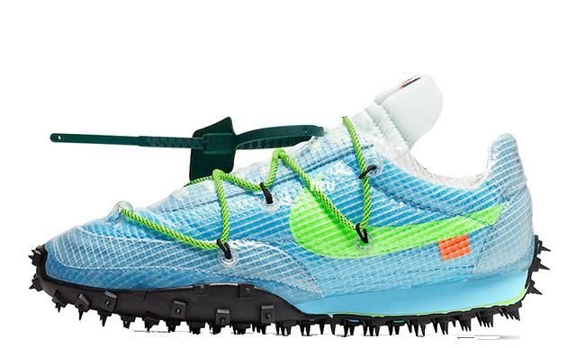 Off-White x Nike Waffle Racer Blue