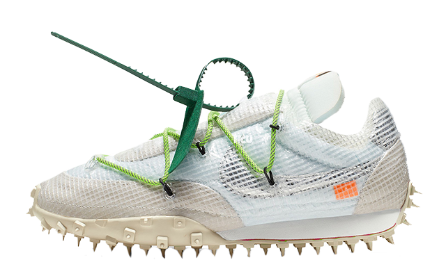 Off-White x Nike Waffle Racer White Green