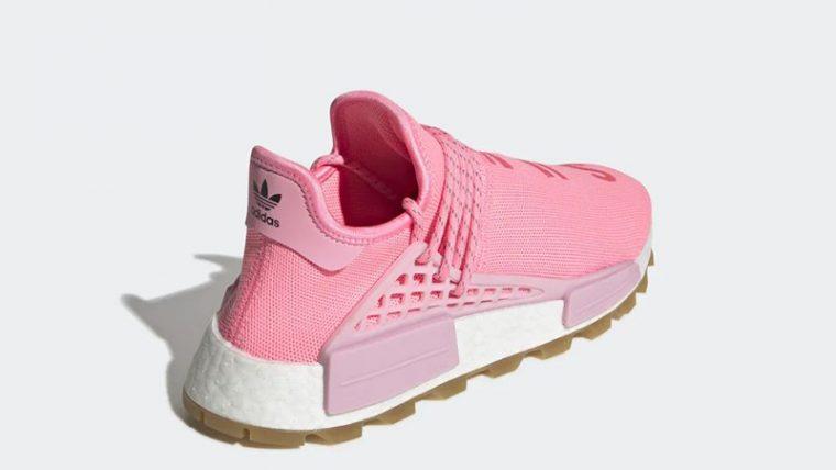 Pharrell Williams x adidas NMD Hu Pink EG7740 back thumbnail image