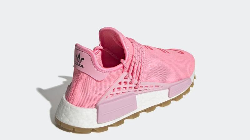 Pharrell Williams x adidas NMD Hu Pink EG7740 back
