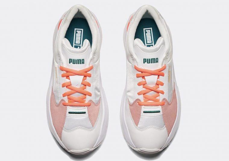 Puma Storm Y Metallic White Pink Green thumbnail image