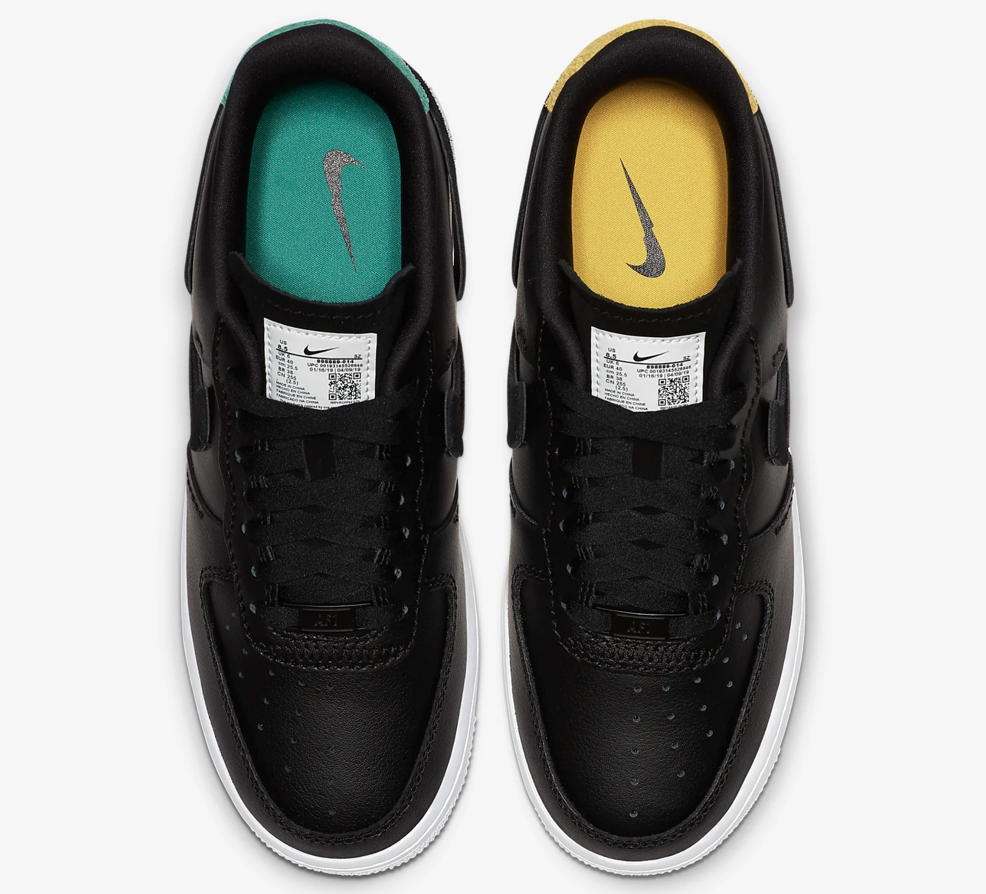 """Nike Air Force 1 Low """"Inside Out"""" BlackMystic Green For"""