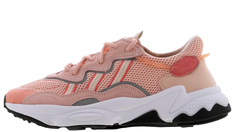 If retro styled sneakers are your thing, then you need to take a closer look at this brand new adidas Ozweego Pink. Inspired by the 90's and 00's, this silhouette is going to be adding an old school flare to your contemporary fits. Dressed in a mix of breathable mesh and premium suede, this silhouette showcases a tonal upper in hues of peachy pink and reflective 3M detailing that wraps around the lace unit and sidewalls of the Pink adidas Ozweego. 3-Stripe branding to the sidewalls stands out against the pink mesh, where lighter and darker hues outline the signature branding, as well as the Trefoil branding on the tongue of the shoe. Underneath, an EVA midsole with Adiprene technology under the heel and forefoot, cushioning each part of your stride and making sure that your feet are kept happy all day long. The adidas Ozweego Pink is available right now at the retailers listed on this page, if you're looking to get this silhouette into your rotation, be sure to head to the links on this page to shop your pair today! thumbnail image