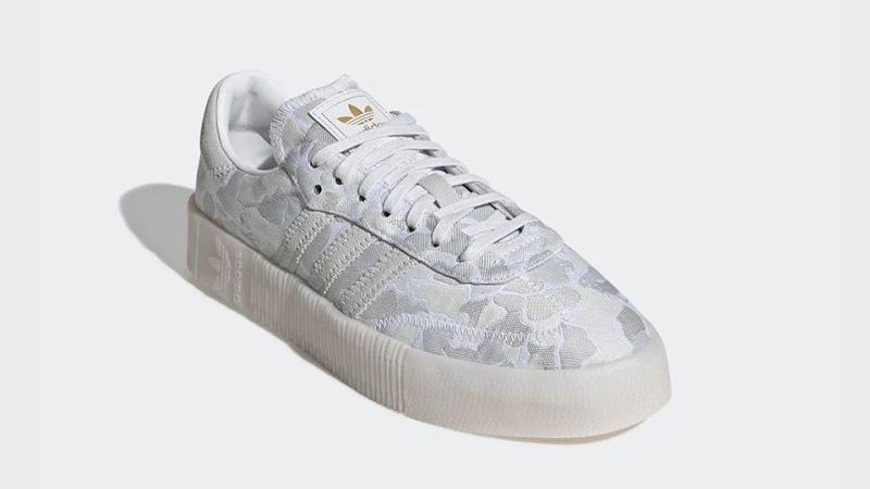adidas Sambarose White Camo EE4676 front