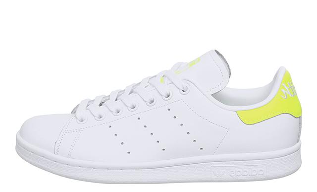 adidas Stan Smith White Solar Yellow