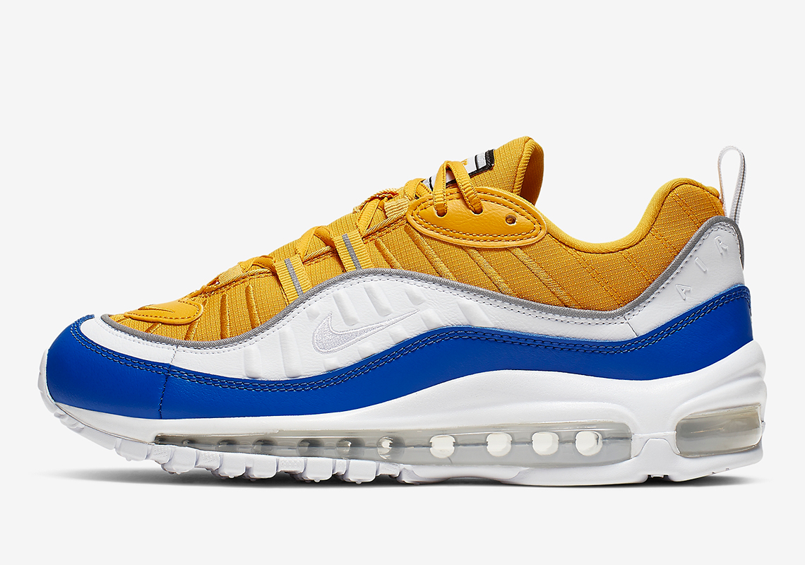 huge selection of 0e506 6238e Go Vibrant With This Air Max 98 In Royal Blue And Topaz Gold ...