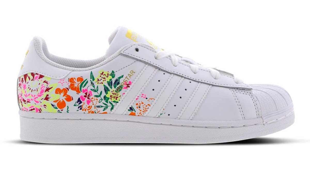 adidas Superstar floral White