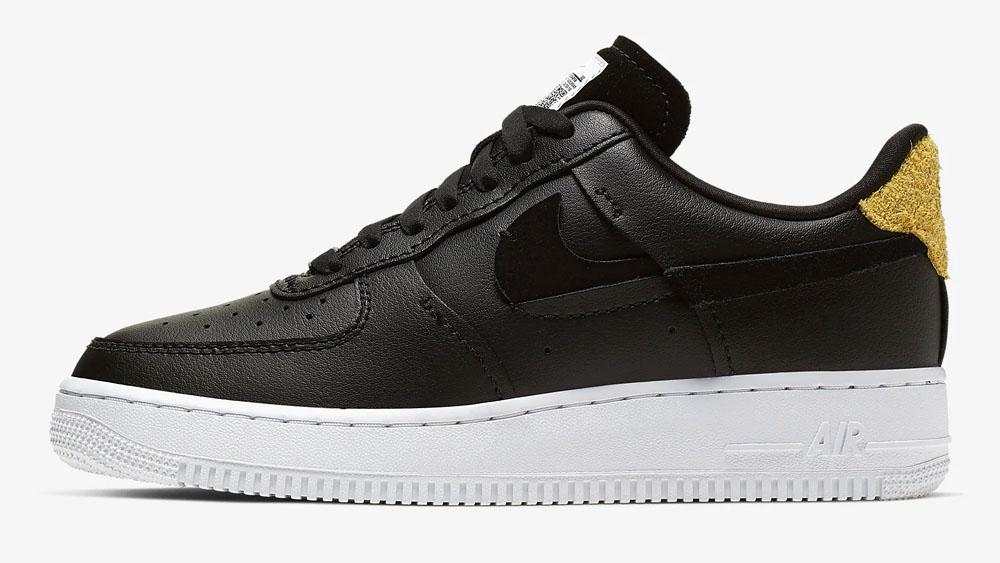 Nike Air Force 1 Black inside out Vandalised