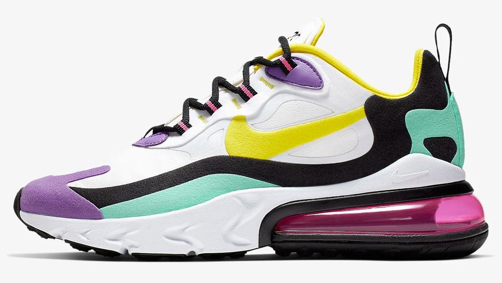 Nike Air Max 270 React Purple Yellow