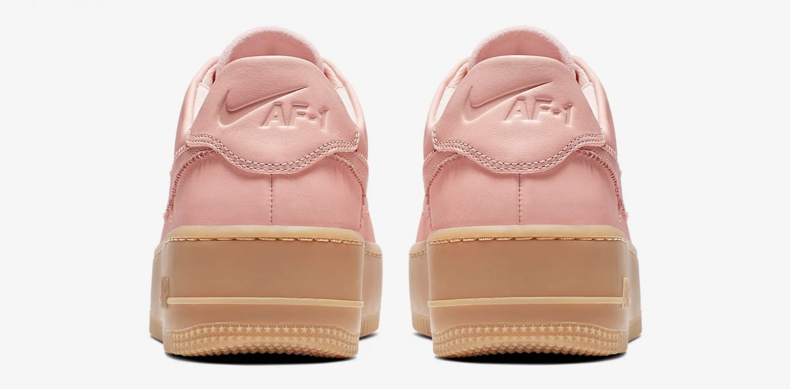 Get Nearly 50% Off This Pink Nike Air Force 1 Sage In Washed Coral 5 heel