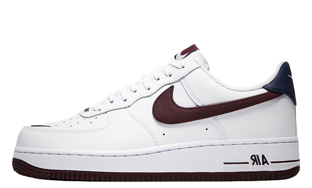Nike Air Force 1 07 LV8 White Maroon CJ8731-100