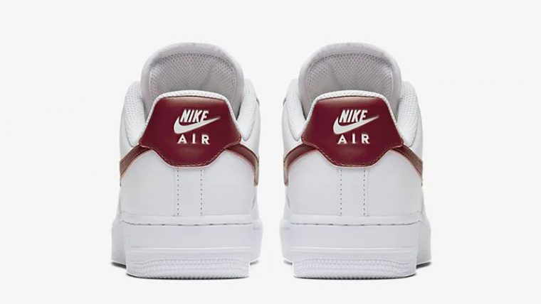 Nike Air Force 1 07 Patent White Red AH0287-110 back thumbnail image