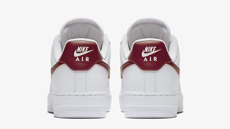 Nike Air Force 1 07 Patent White Red AH0287-110 back