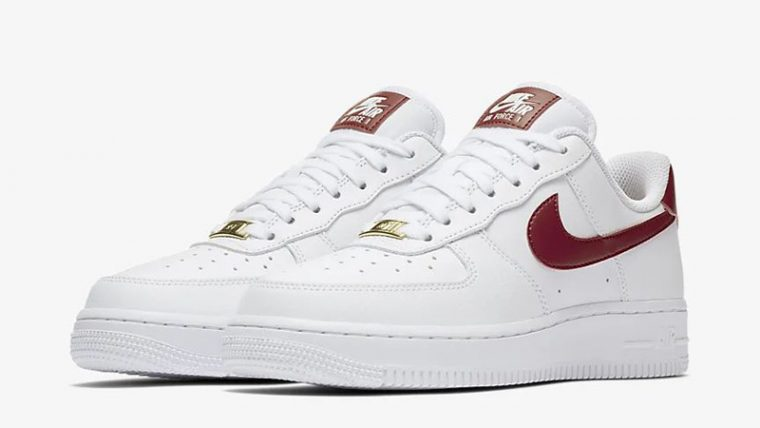 Nike Air Force 1 07 Patent White Red AH0287-110 front thumbnail image