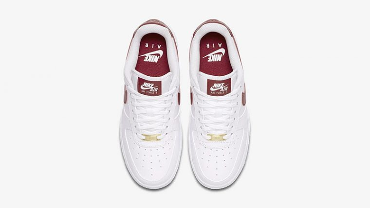 Nike Air Force 1 07 Patent White Red AH0287-110 middle thumbnail image