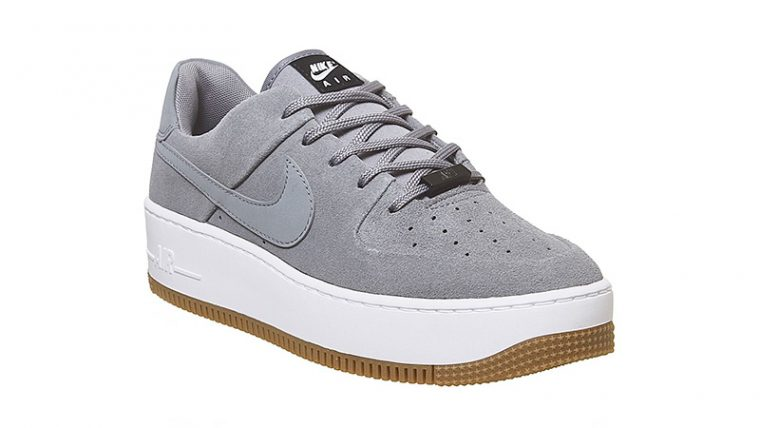 Nike Air Force 1 Sage Cool Grey side thumbnail image