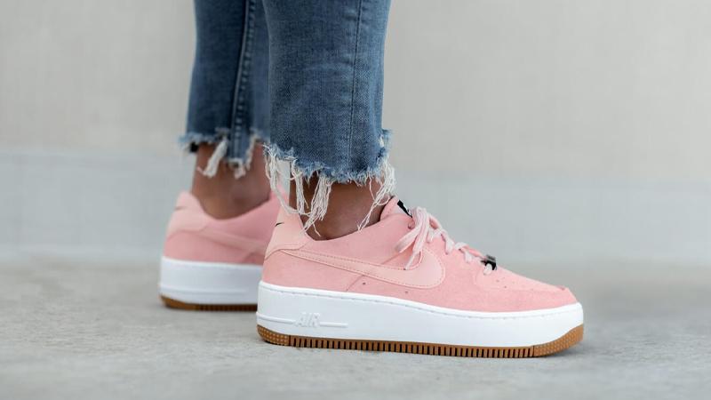 pink nike air force 1 sage low