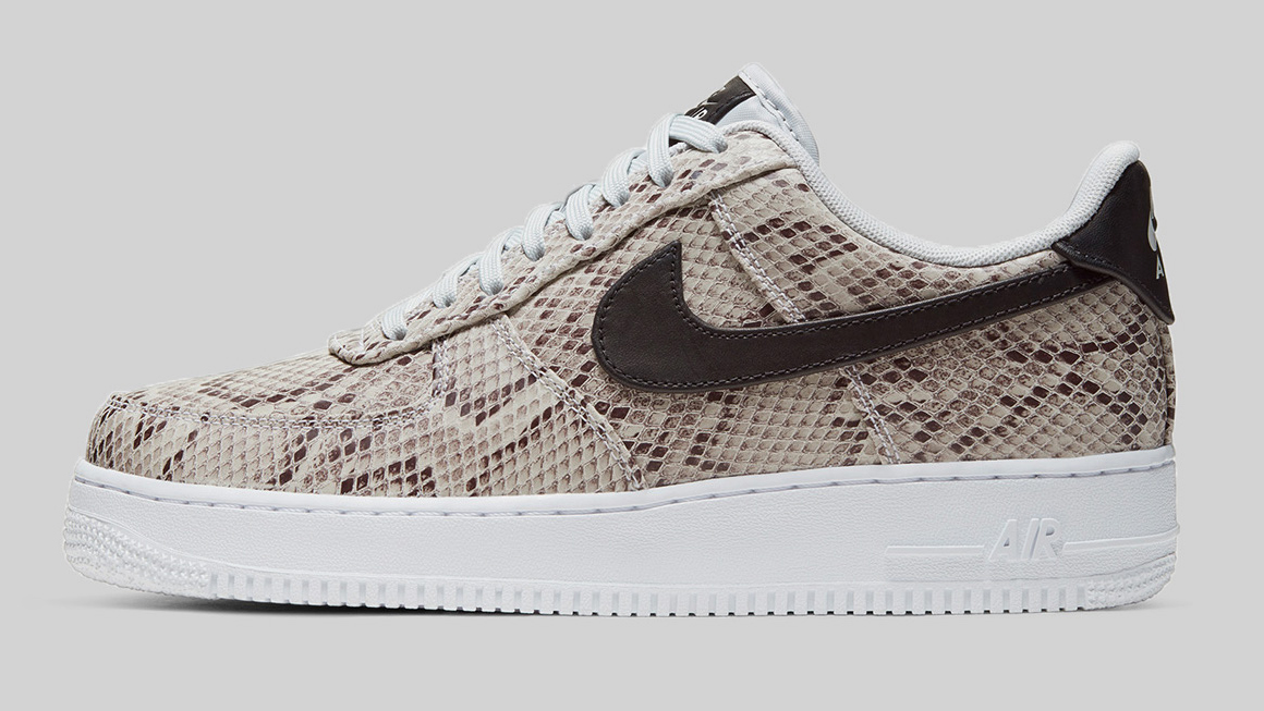Cream Snakeskin Leather Covers This Nike Air Force 1 Dr
