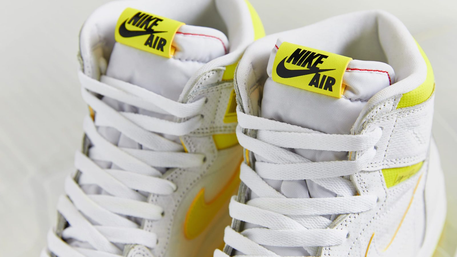 new arrival 1c3f5 0fb48 Vibrant Yellow Detailing Decorates The Air Jordan 1 'First ...