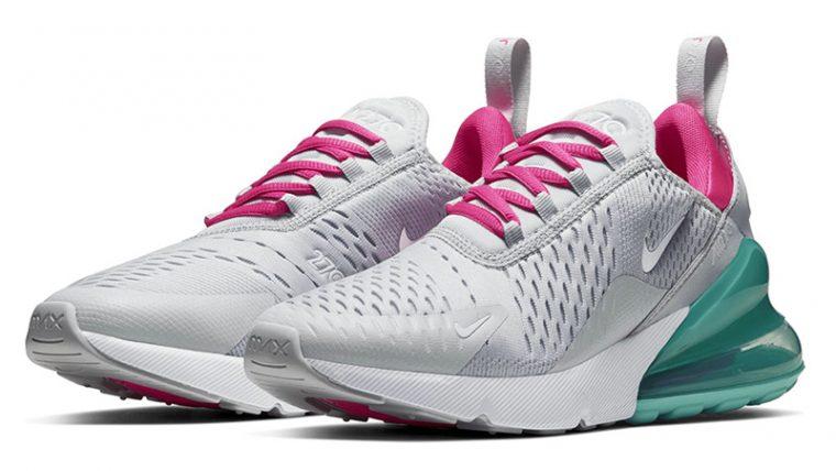 Nike Air Max 270 Pure Platinum Pink Blast AH6789-065 front thumbnail image