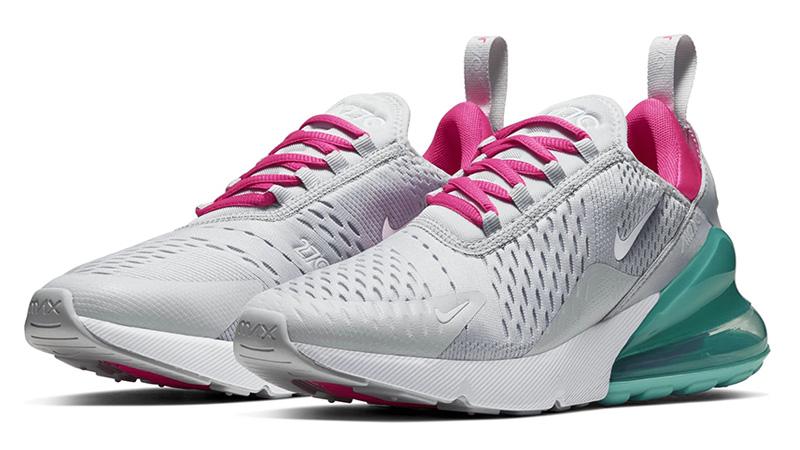Nike Air Max 270 Pure Platinum Pink Blast AH6789-065 front