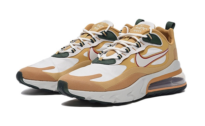 Nike Air Max 270 React Beige Green.Front