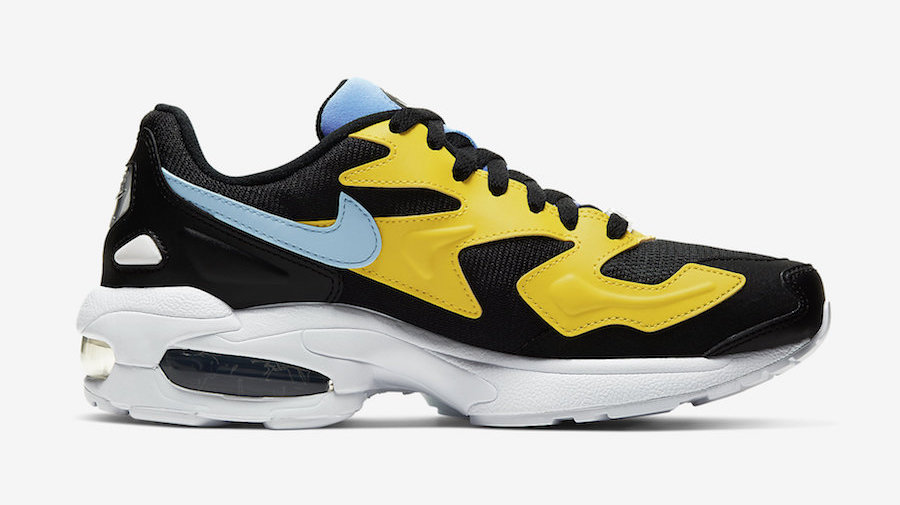 Nike Air Max2 Light Black Yellow Blue