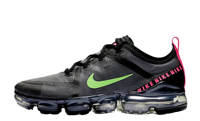 info for 3035c 806f9 Nike Air VaporMax 2019 Black Pink Green | CQ4610-001