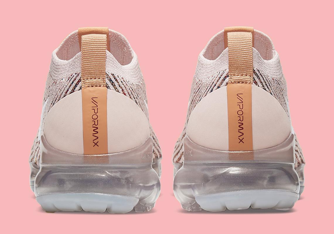 Nike Air VaporMax Flyknit 3 Sunset Tint | AJ6910-602 heel