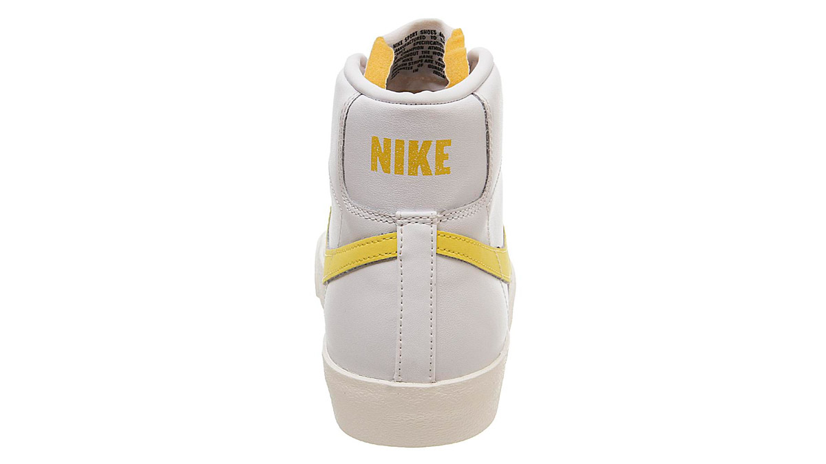 Nike Blazer Mid 77 Yellow White 2 heel
