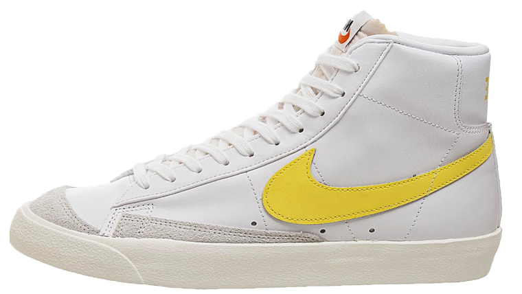 Nike Blazer Mid 77 Yellow White 2 side