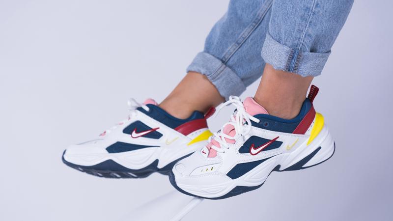 Nike M2K Tekno White Multi On Feet