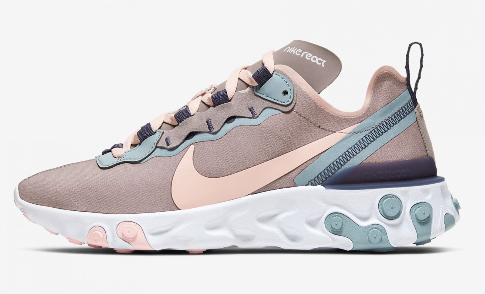 Nike React Element 55Pumice/Sanded Purple/Ocean Cube/Echo Pink |CK0834-200 outer