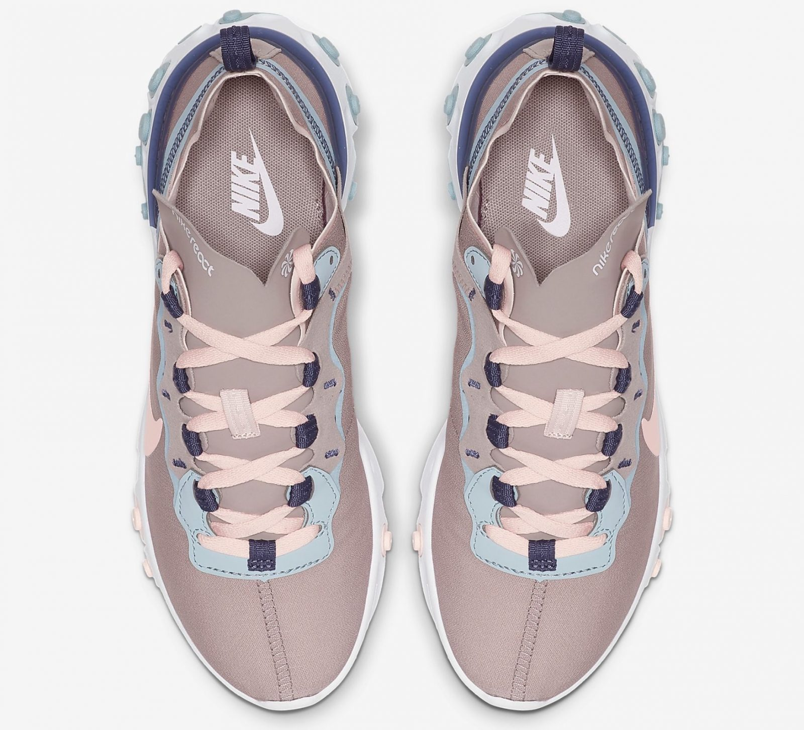 Nike React Element 55 Pumice/Sanded Purple/Ocean Cube/Echo Pink | CK0834-200 above