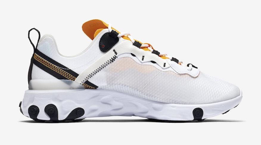 Nike React Element 55 University Gold side