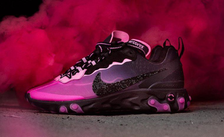 Nike React Element 87 Pink Black