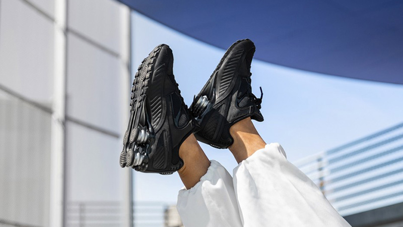 Nike Shox Enigma 9000 Black BQ9001-004 on foot front