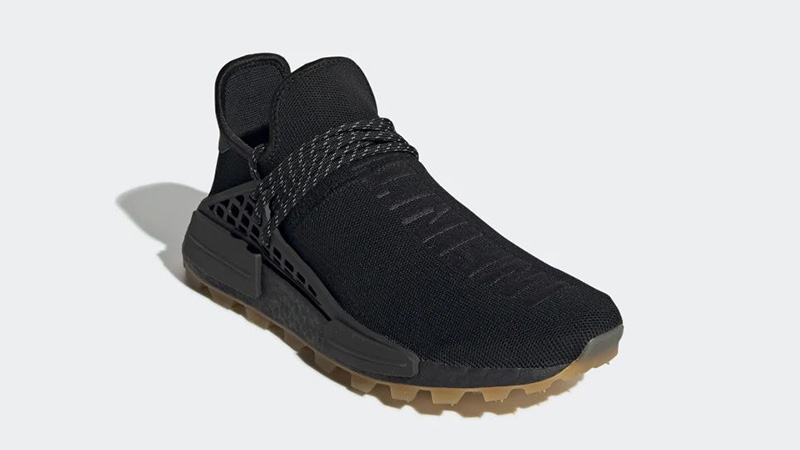 Pharrell x adidas Hu NMD Gum Pack Black   EG7836 front