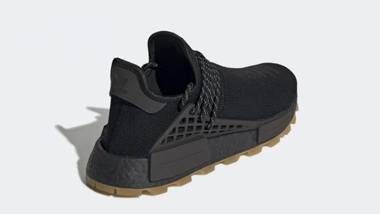 Pharrell x adidas Hu NMD Gum Pack Black   EG7836 heel thumbnail image
