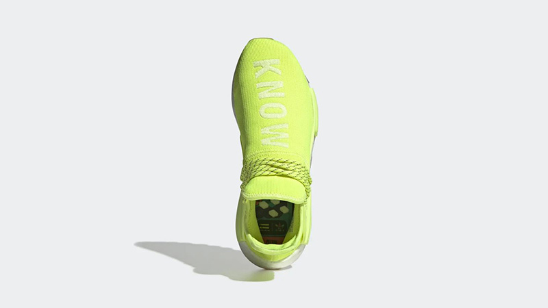 Pharrell x adidas NMD Hu Know Soul Volt | EF2335 above